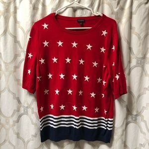 Talbots Stars and Stripes sweater